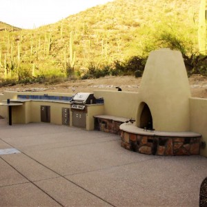 Outdoor Spaces - Outdoor kitchen and entertainment area