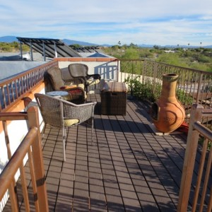Private Deck Area with 360 degree view