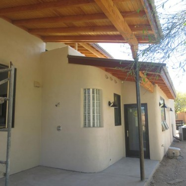 Custom home, Sabino Canyon - Rear Patio